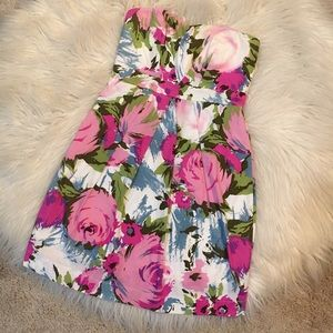 Floral Printed Spring Classic Sweetheart Dress F21